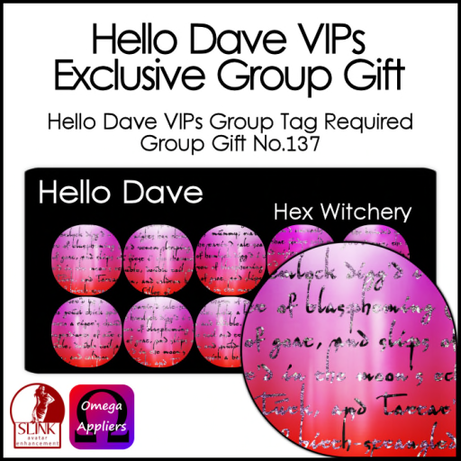 Hello Dave VIPs - Hex Witchery ad