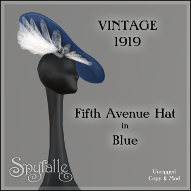 Spyralle Fifth Avenue Vintage Hat in Blue - GYA Hunt
