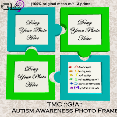 Third Moon Creations - G!A - Autism Photo Frame Vendor